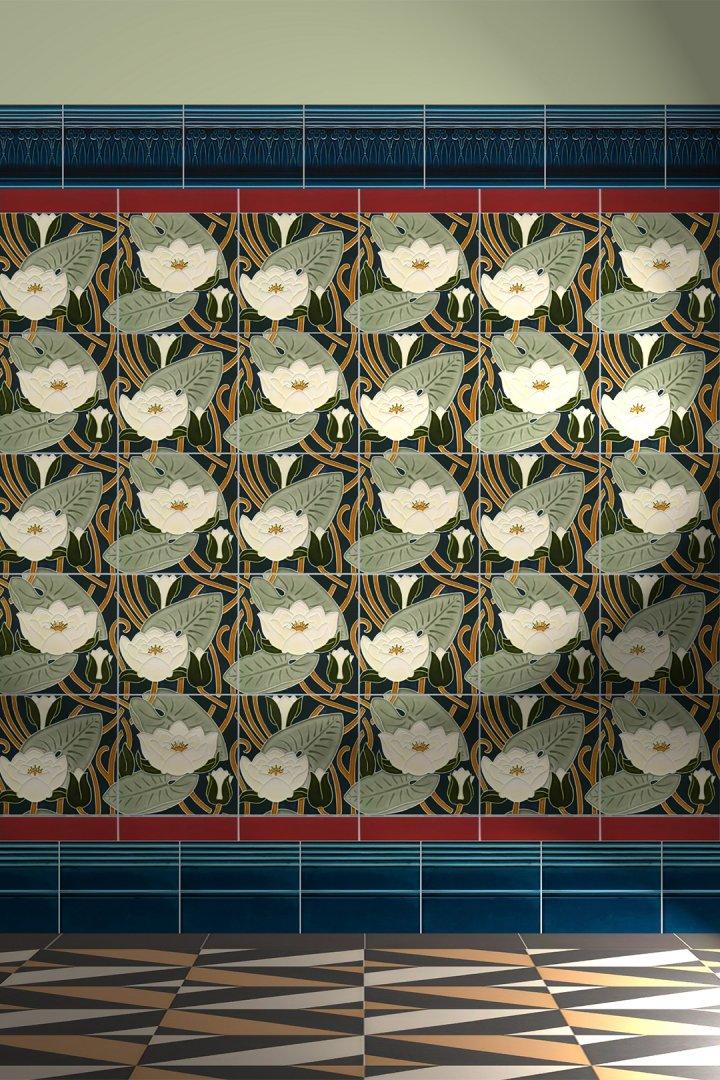 Wandfliesen Dekorfliesen Verlegebeispiel F 62a