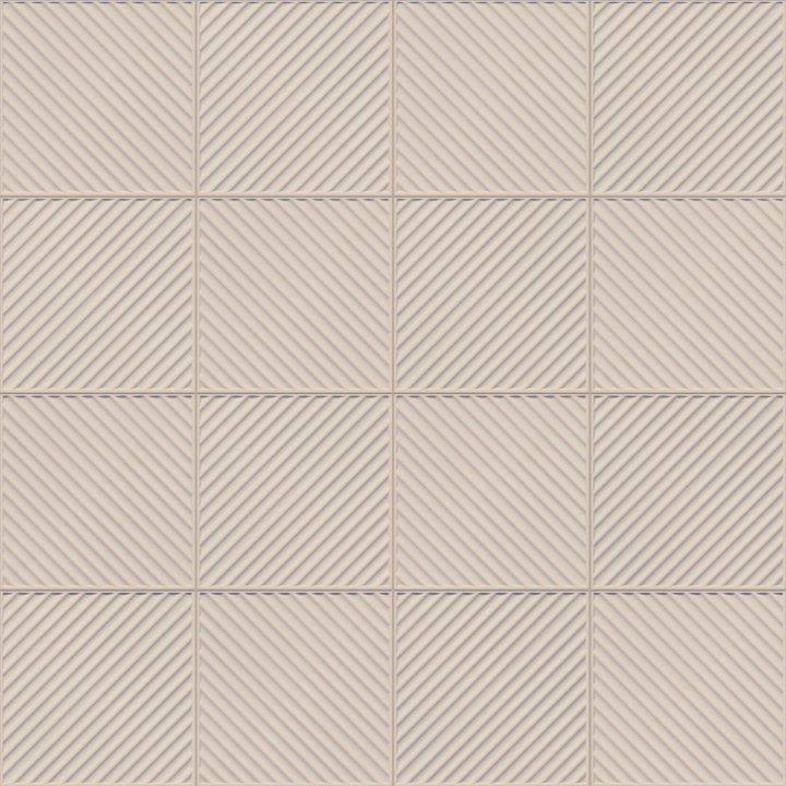 Hellgraue keramische Bodenfliese mit Schrägsteg-Relief. Stoppwirkung bei wechselnder Verlegerichtung. Absolut frostsicher dank höchster keramischer Qualität, besonders geeignet für Hausflure und Außenbereiche