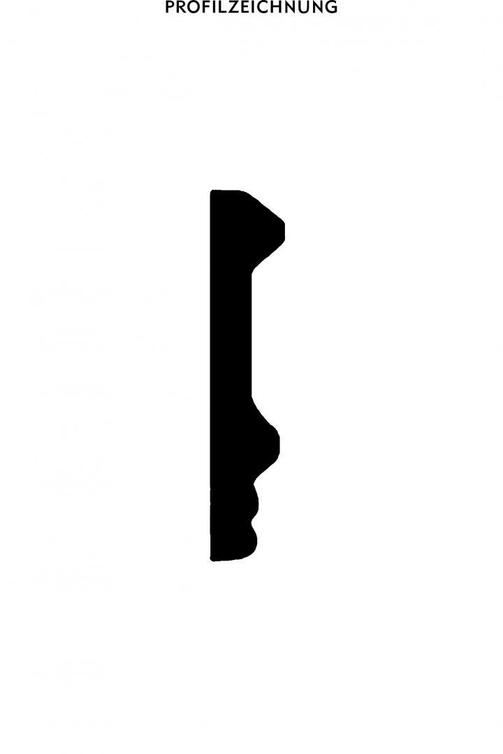 Profil der Bordüre B 20
