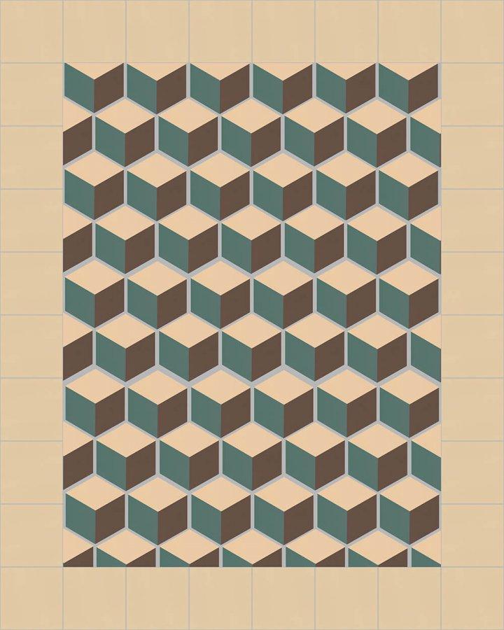 stoneware hexagonal SF 317 B