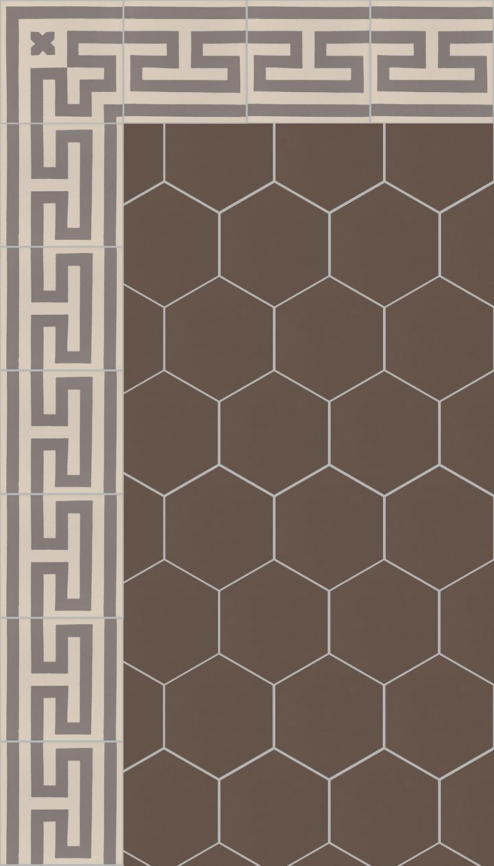 floor tiles hexagonall SF 17.18 S