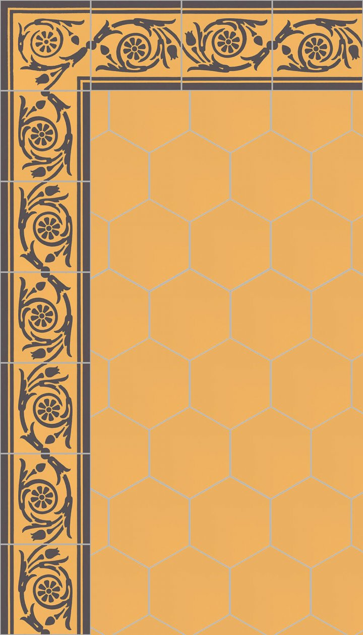 floor tiles hexagonal SF 17.12 S