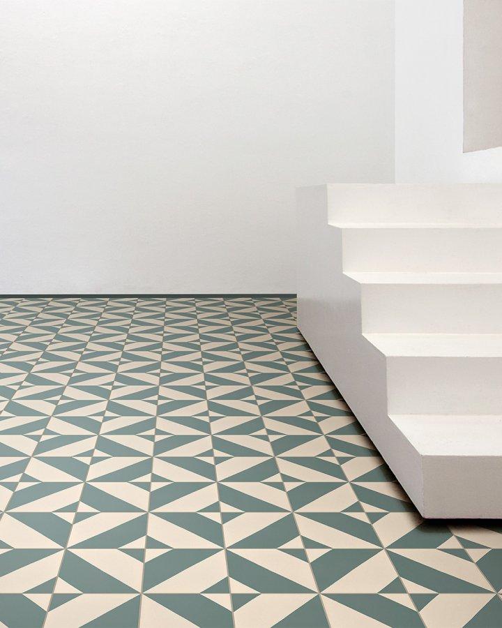 Artelier mit Steinzeugfliese SF209G geometrisch modern abstrakter Boden