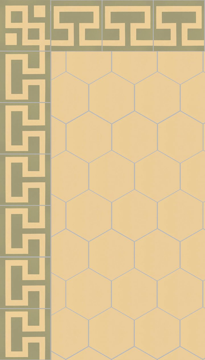 floor tiles hexagonal SF 17.7