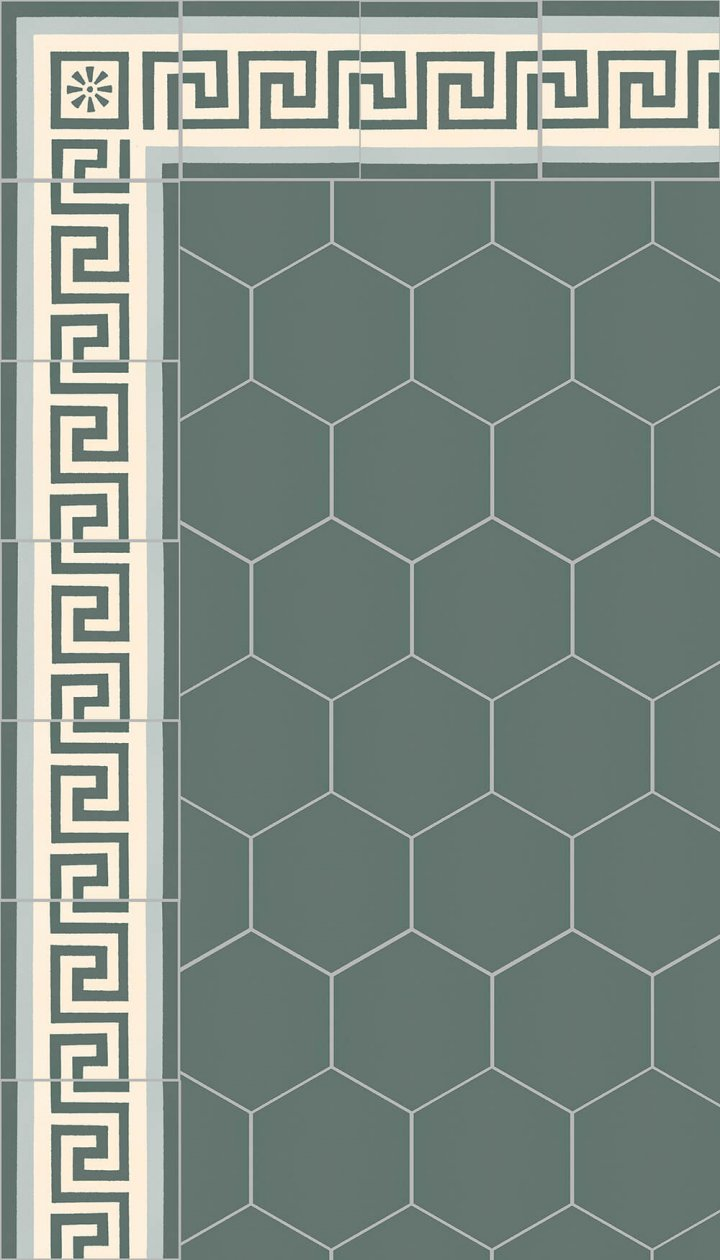 floor tiles hexagonal SF 17.23 S