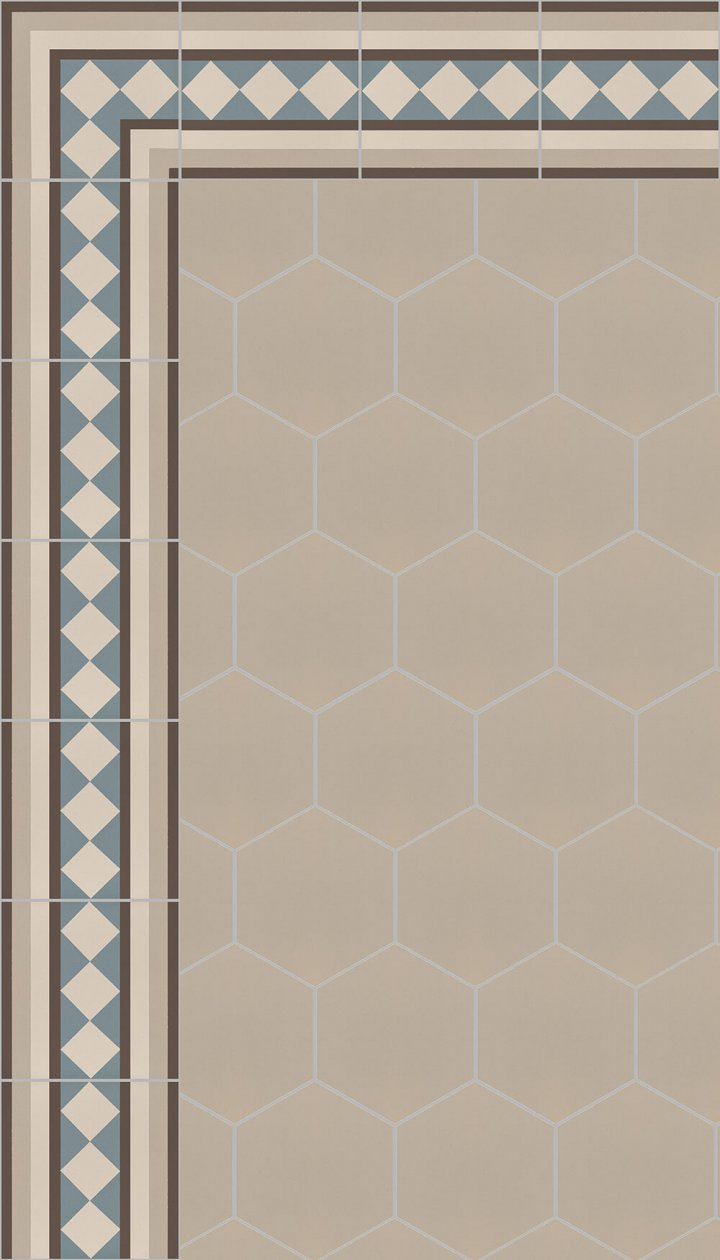 floor tiles hexagonal SF 17.4