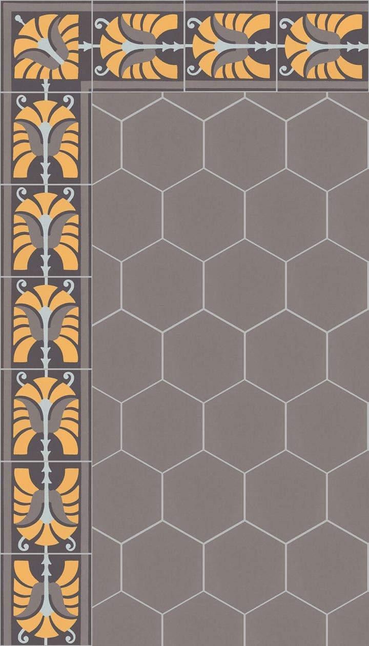 floor tiles hexagonal SF 17.5