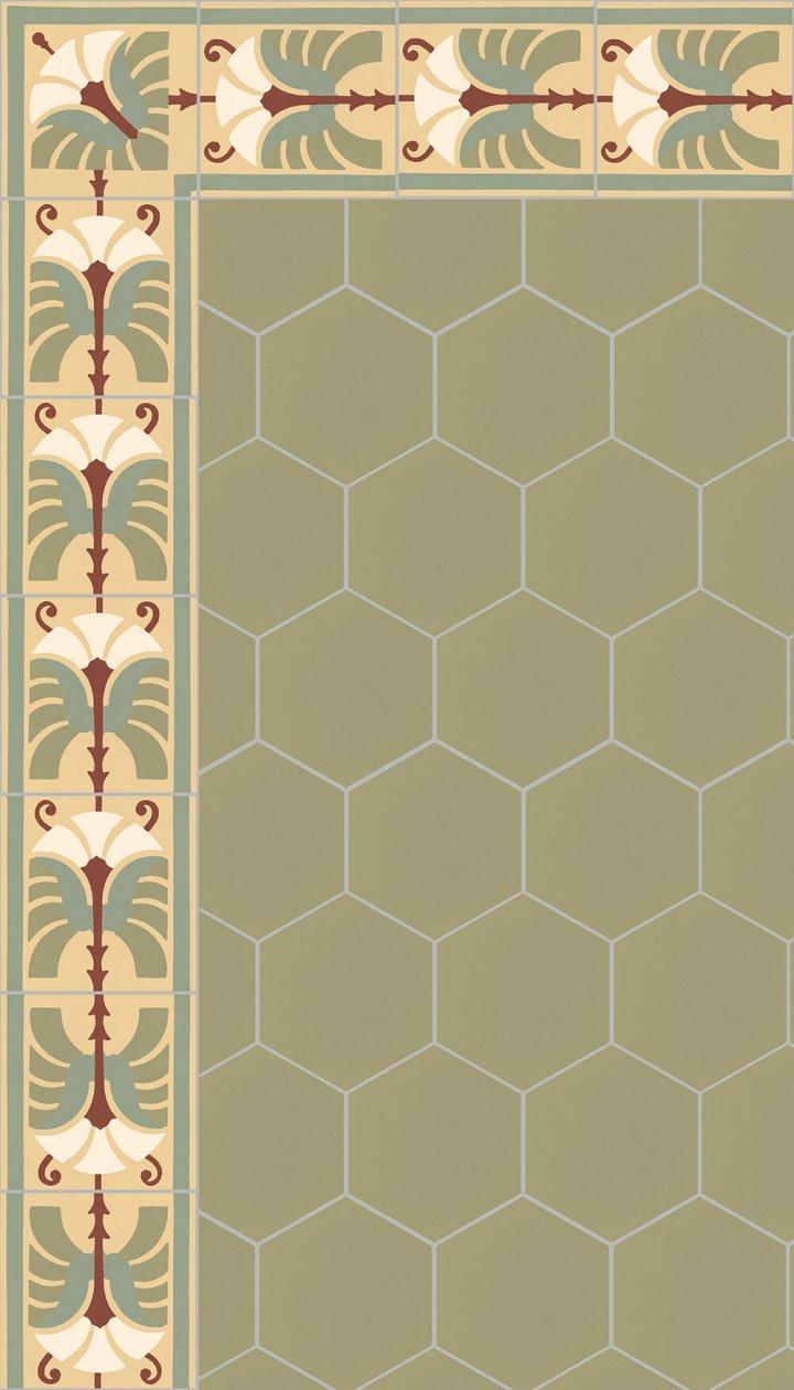 floor tiles hexagonal SF 17.21 S