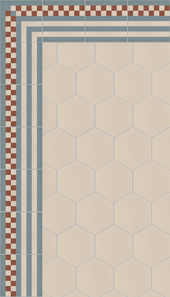 floor tiles hexagonal SF 17.3
