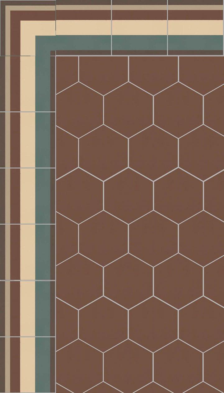 floor tiles hexagonal SF 17.9