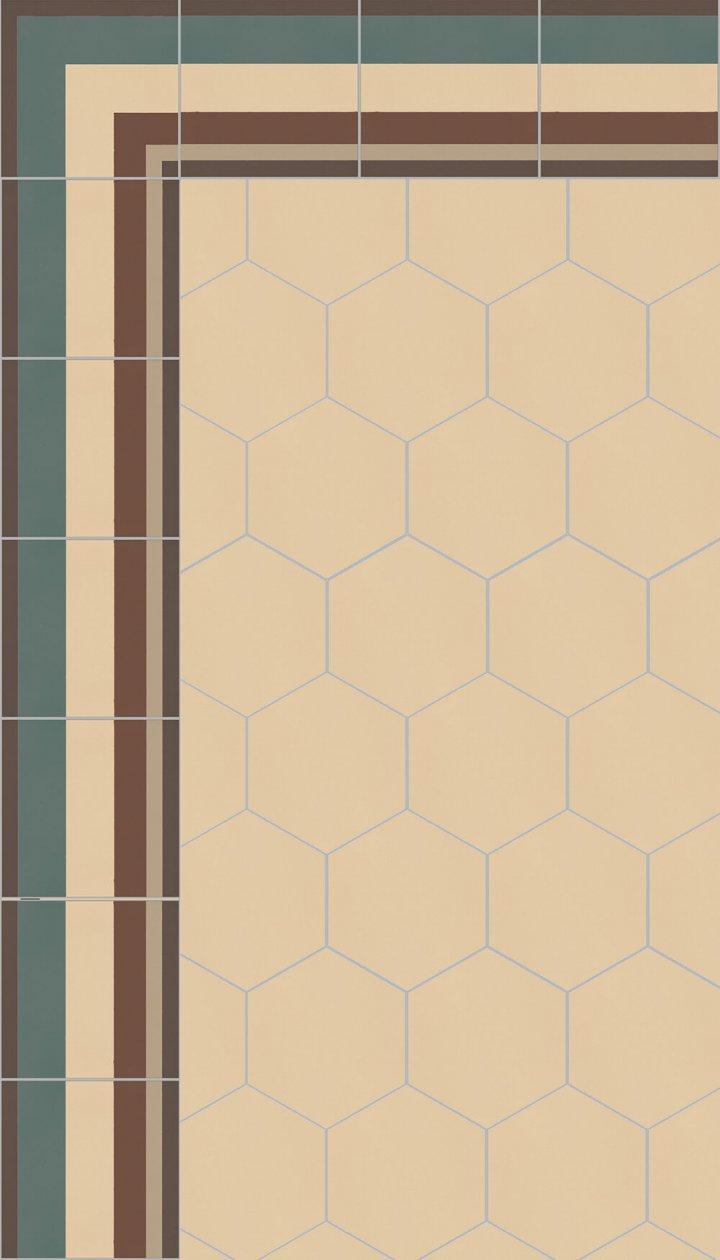 floor tiles hexagonal SF 17.2