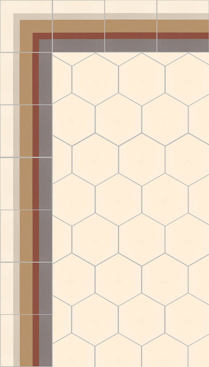 floor tiles hexagonal SF 17.1
