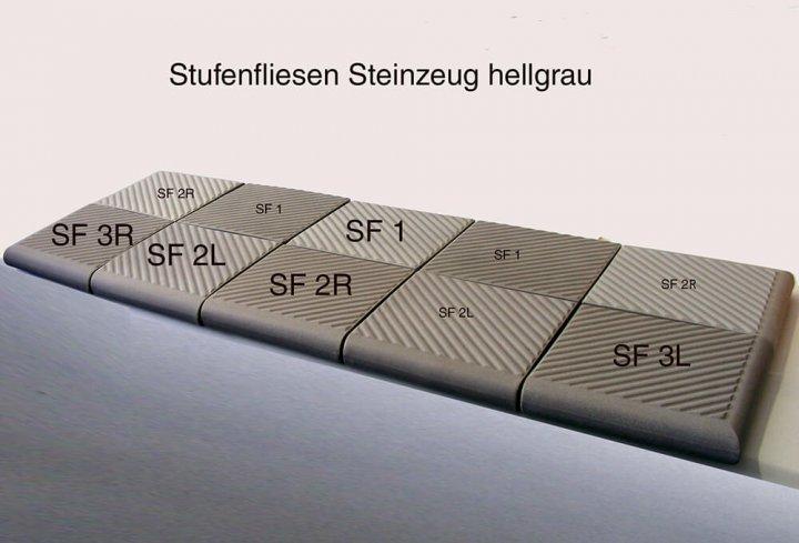 Stufenfliese für den Außenbereich. Traditionelle Herstellung, unverwüstliches Material für höchste Belastung.