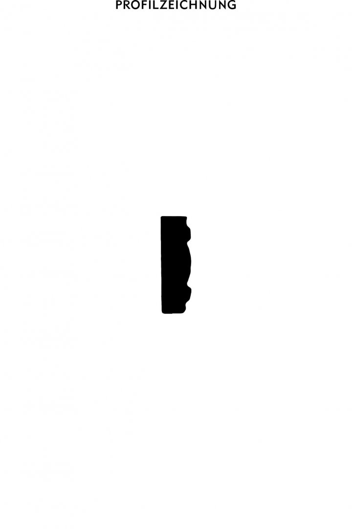 Profil der Bordüre B 1