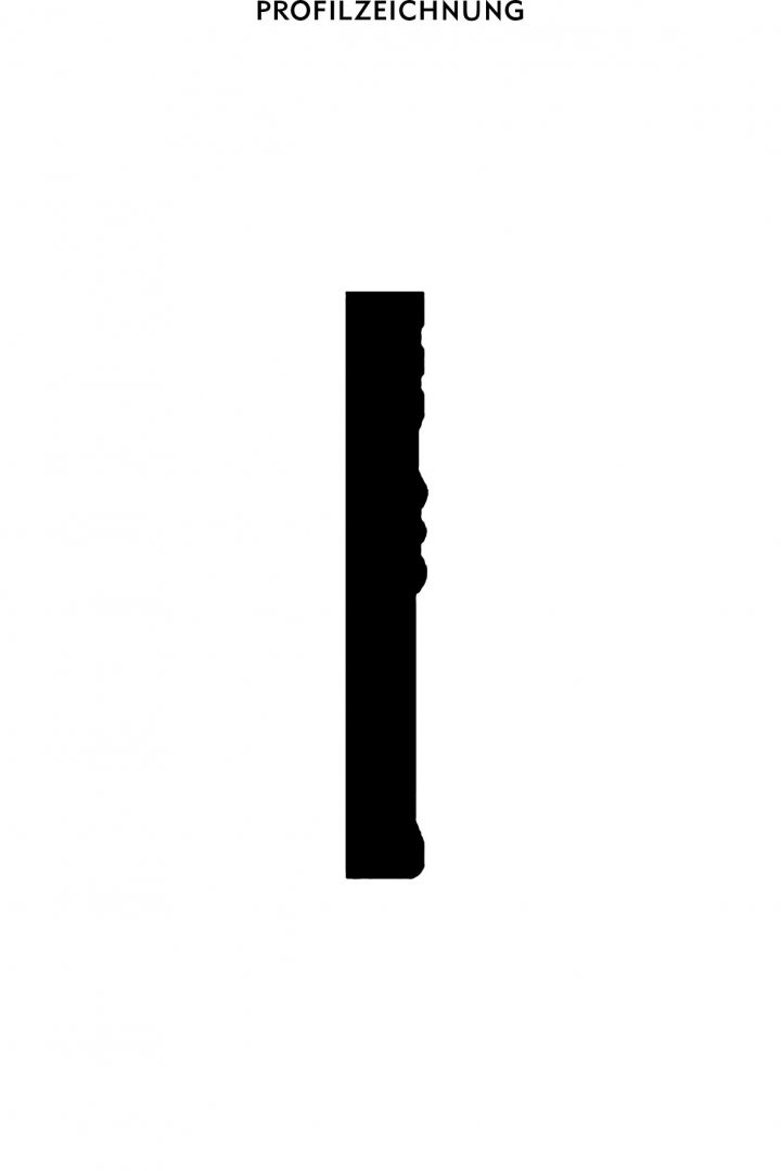 Profil der Bordüre B 19