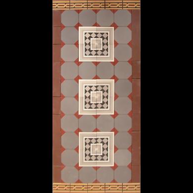 Verlegemuster für Bodenfliesen  PMS 111 (1,6m²)