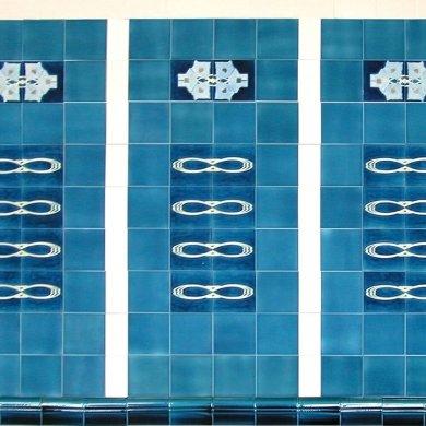 Wandfliesenspiegel, Patch-Art gestaltet von Sabine Heller WSH 120 (3,6m²)