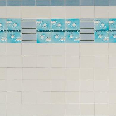 Wandfliesenspiegel, Patch-Art gestaltet von Sabine Heller WSH 153 (3,0m²)