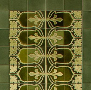 Wandfliesenspiegel, Patch-Art gestaltet von Sabine Heller WSH 199 (3,0m²)