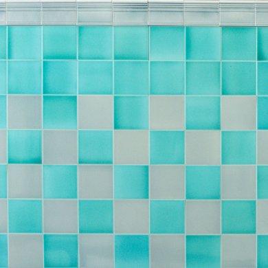 Wandfliesenspiegel, Patch-Art gestaltet von Sabine Heller WSH 215 (2,9m²)