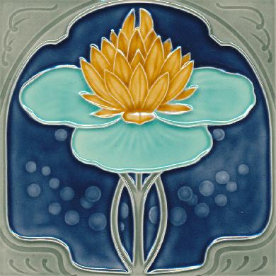 Art Nouveau tile F 184 V2