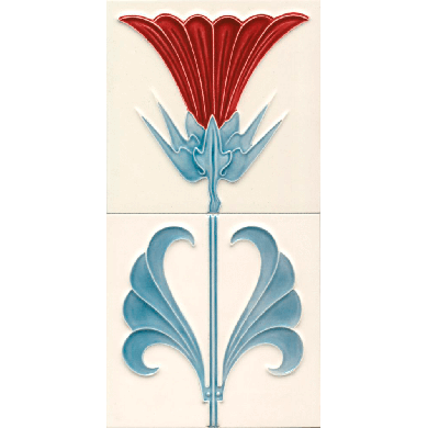 Art Nouveau tile F 53 / Set Distel