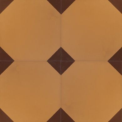 Bodenfliesen, Restposten zweifarbige Steinzeugfliesen mit Sechseckmuster  BFE SF 202a (5,11m²)