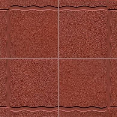 Bodenfliesen, Restposten Relieffliesen ziegelrot  BFE RF5  (ca. 2,43 m²)