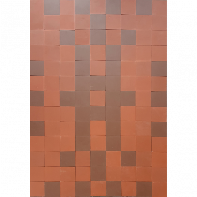 rotbraune Bodenfliesen, Verlegemuster PMS 357   PMS 357    (2,63m²)