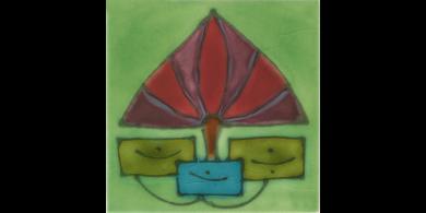 Jugendstilfliese F 8b