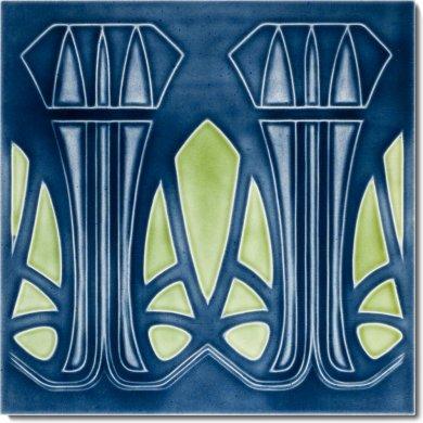 Art Nouveau tile F 66 V8