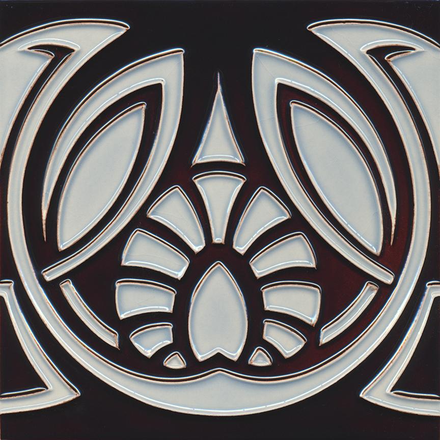 Art Nouveau Tile Golem Kunst Und Baukeramik Gmbh F 161