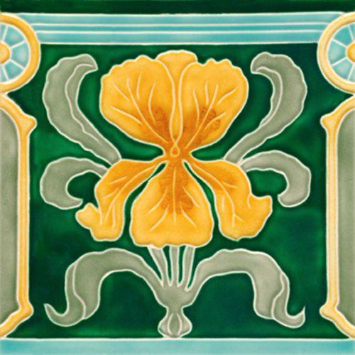 Art Nouveau Tile Golem Kunst Und Baukeramik Gmbh F 39