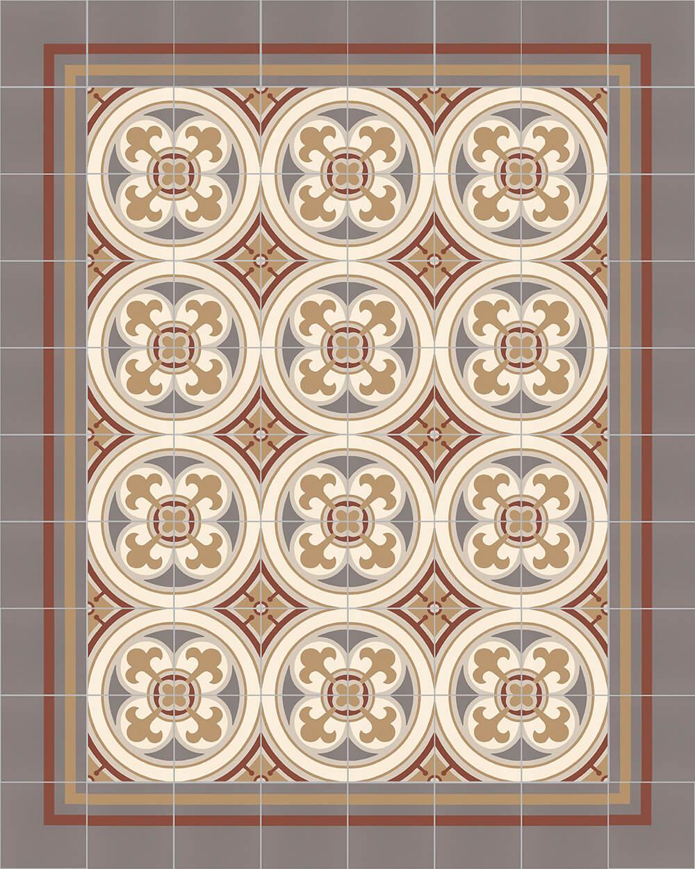 golem kunst und baukeramik gmbh ornamentfliese sf 550 d. Black Bedroom Furniture Sets. Home Design Ideas